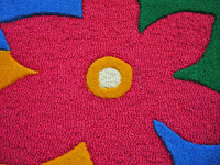 hand-tufted carpets in loop-cut pattern in newzealand wool