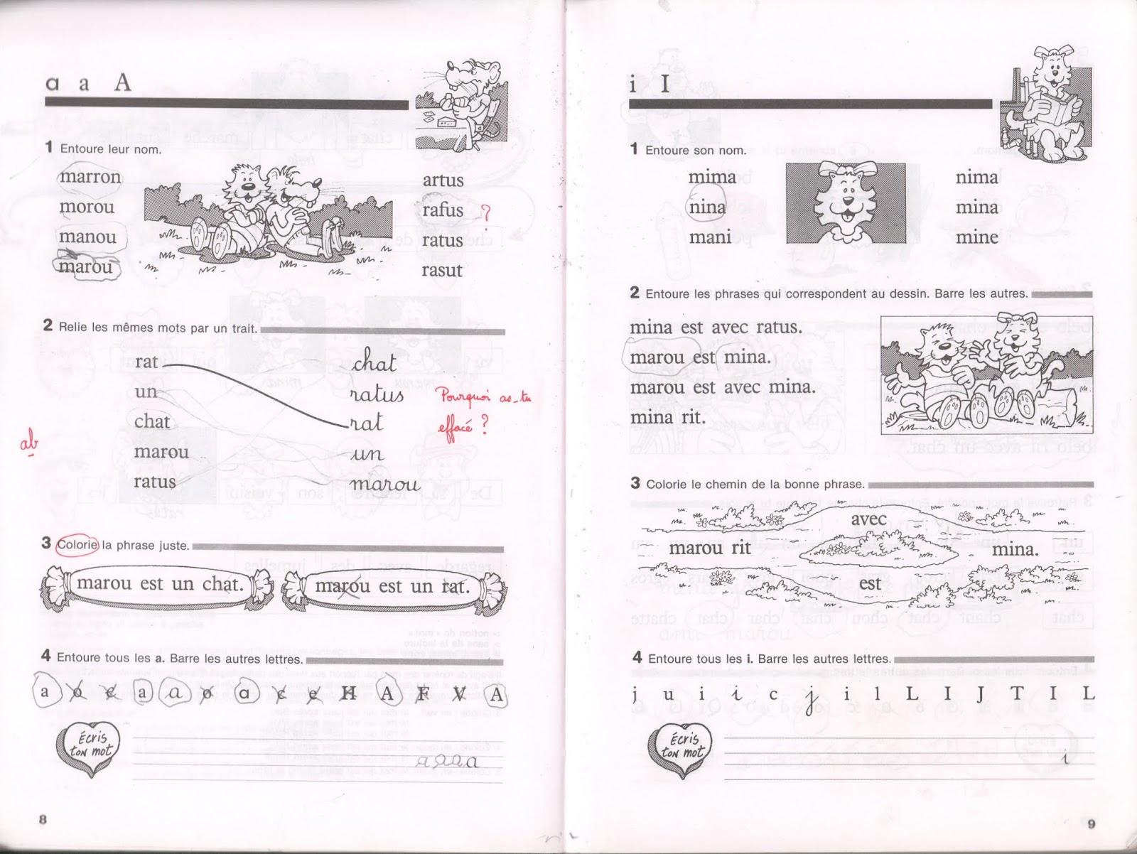 Manuels Anciens Guion Ratus Et Ses Amis Cp Cahier De Lecture 1994