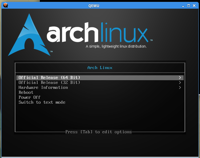 Http based Linux install starter - Arch