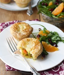 Satay pot pies recipe