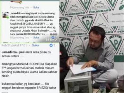 TERCYDUK Hina UAS dan Habib Rizieq, Seorang Pengacara Digiring ke Markas FPI Pekanbaru