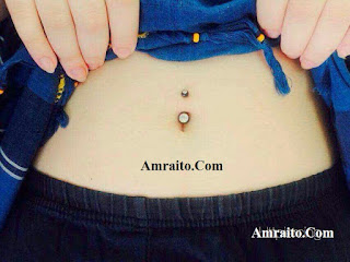 Navel piercing pain