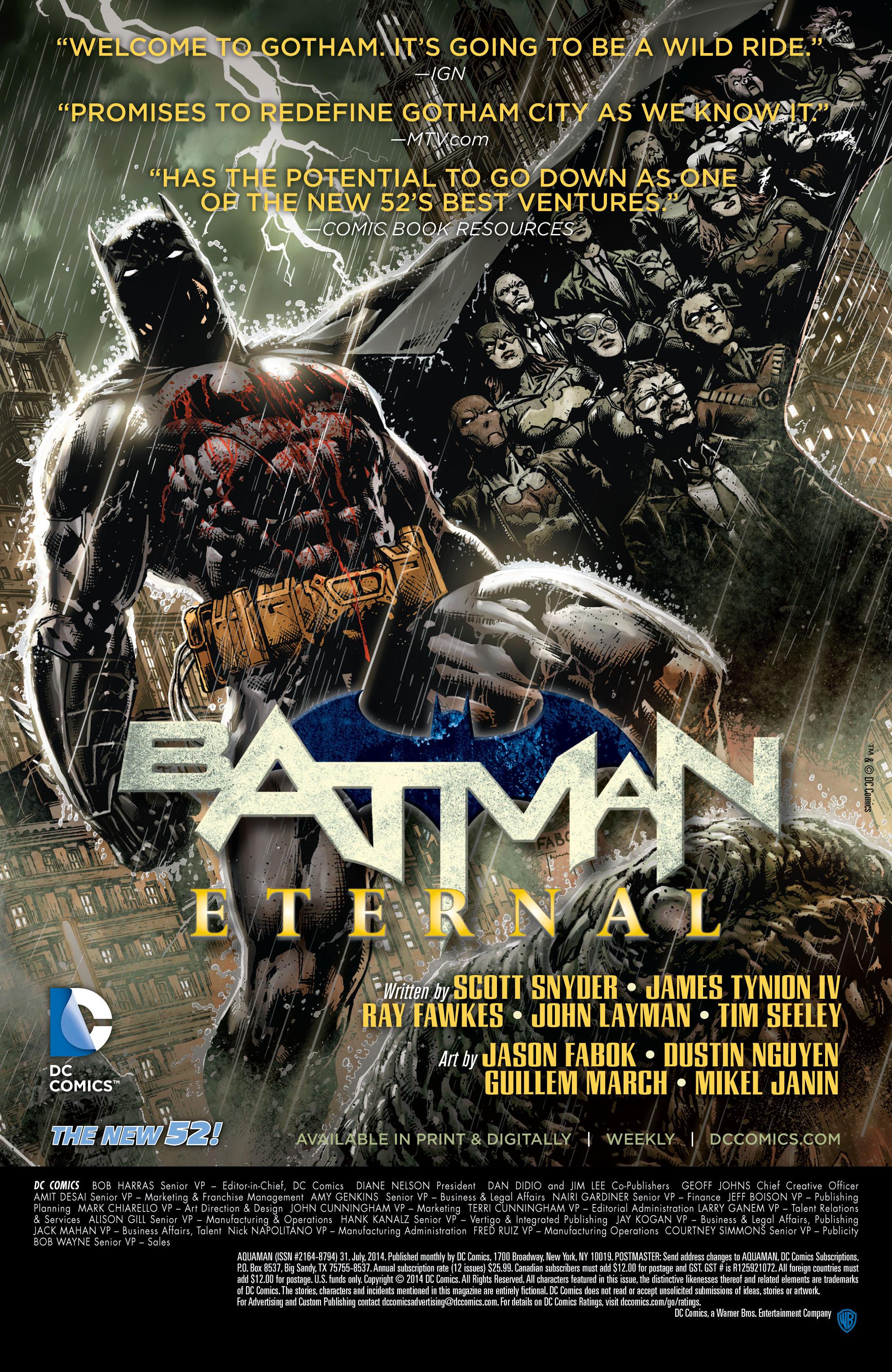 Read online Aquaman (2011) comic -  Issue #31 - 22