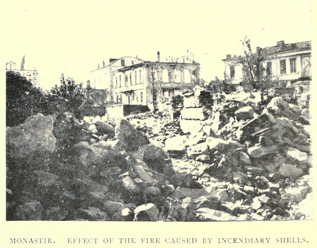 Monastir - Effect of the fire caused by incendiary shells