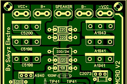 Power Amplifire Audio Untuk Sound Luar Driver MCRD V.02 Dari Sukyz Elektro