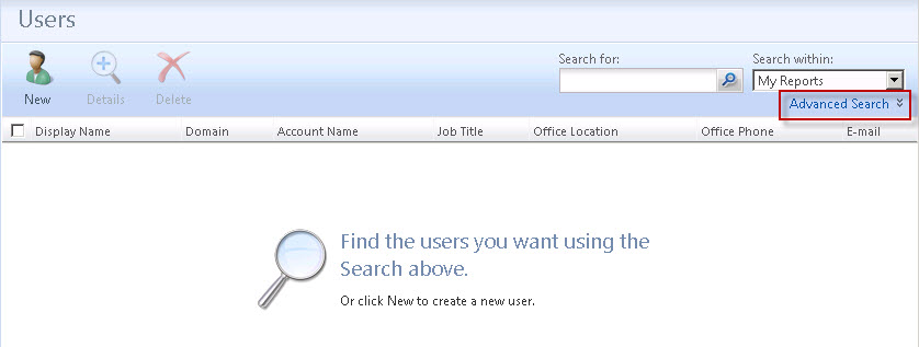 IDMware: Hide Advanced Search button on Users page