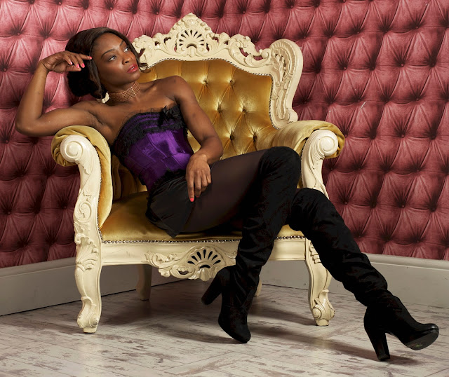 studio model photography seated boots
