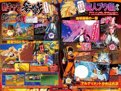 La revista V-Jump de Shueisha ha anunciado que el nuevo y esperado juego Dragon Ball FighterZ, contará en su plantilla de luchadores con Gotenks en SS3, Ultimate Gohan y Kid Boo.