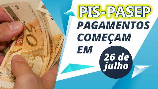 Pagamento do PIS 2018 começa 26 de julho