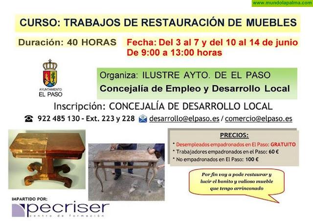 Curso de Trabajos de Restauración de Muebles en El Paso