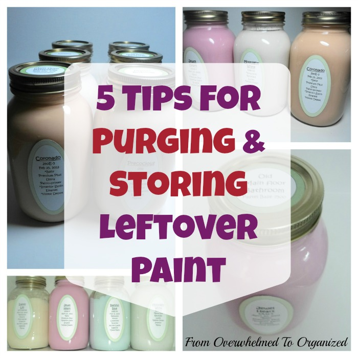 Organizing Leftover Paint | The Everyday Home Blog | www.everydayhomeblog.com