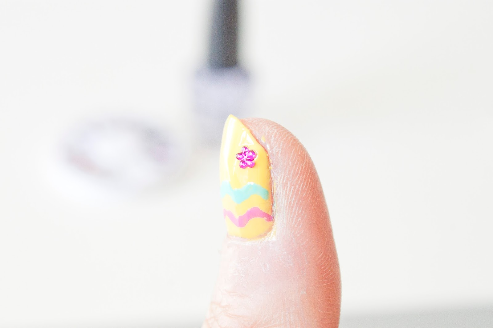 Ongle Nail art Fleur
