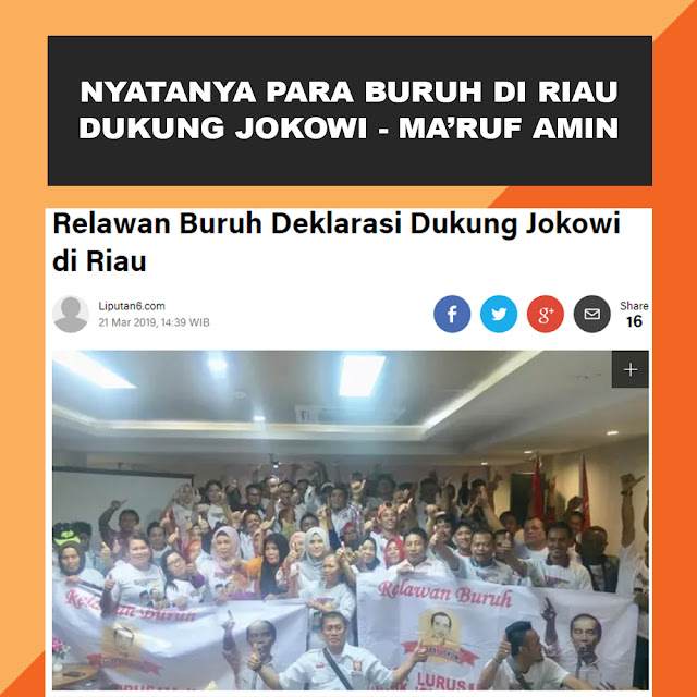 Relawan Buruh Deklarasi Dukung Jokowi di Riau