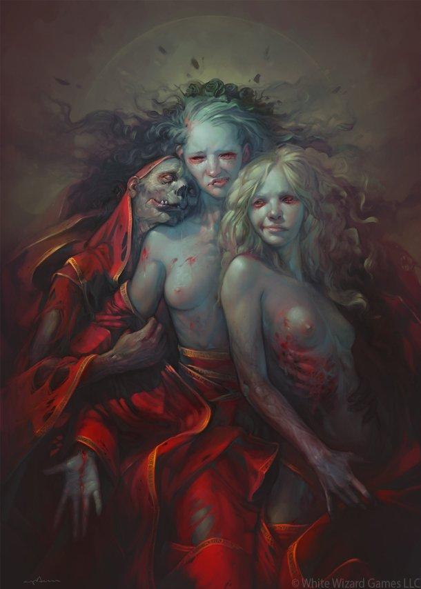 Sabbas Apterus artstation ilustrações fantasia terror zumbis mortos vivos mulheres nuas seminuas sensuais loucas