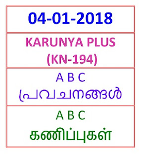 04-01-2018 A B C Predictions KARUNYA PLUS