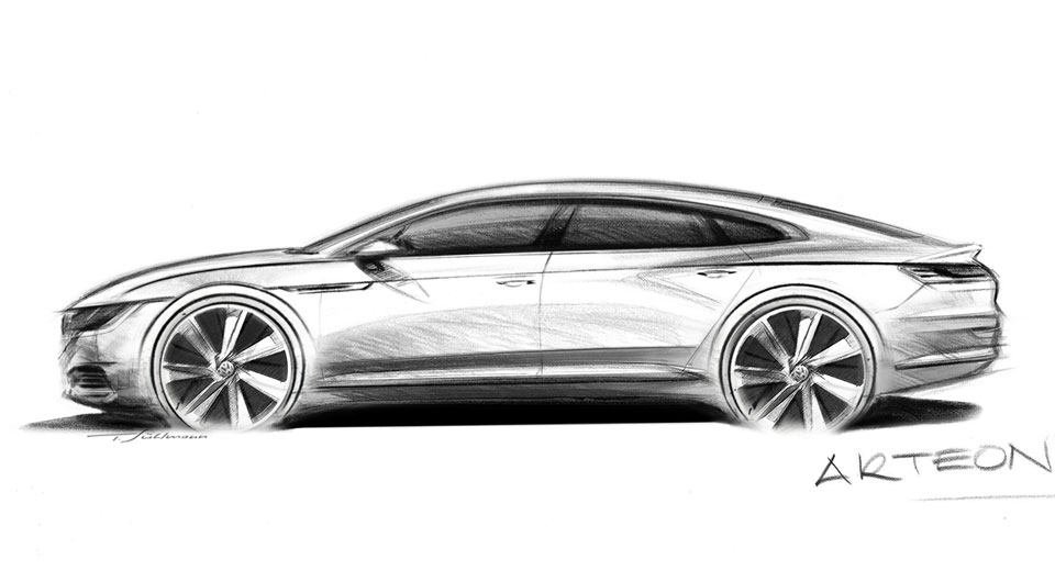 volkswagen previews new arteon fastback to replace cc