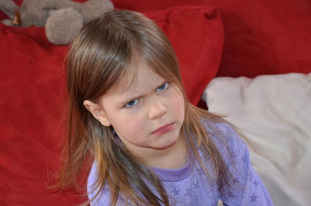 very angry girl