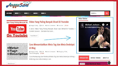 Cara Menambahkan Widget Video Youtube Di Sidebar Blog