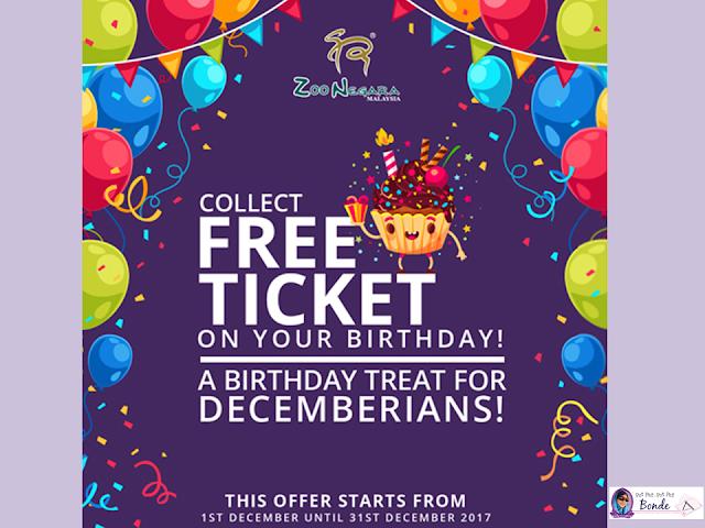 DECEMBERIANS COLLECT FREE TICKET ON YOUR BIRTHDAY! @ ZOO NEGARA, TIKET FREE MASUK ZOO NEGARA, JOM PERGI ZOO NEGARA, PANDA,