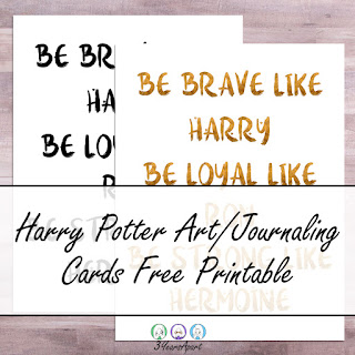 3 Years Apart Harry Potter Art Print, Wall Art, Journaling Cards Free Printable