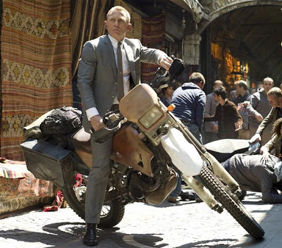 Daniel Craig as James Bond, chasing the assassin on the Bike, Skyfall, Directed by Sam Mendes