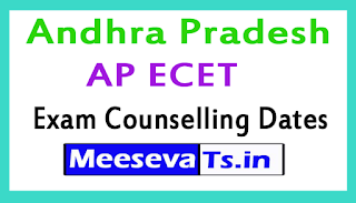 Andhra Pradesh AP ECET Exam Counselling Dates