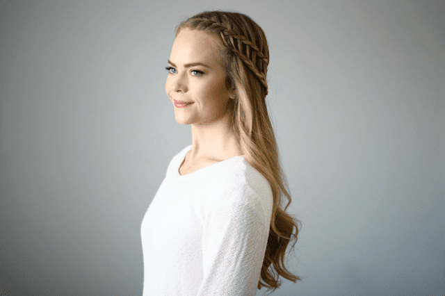 Half Up Ladder Braid Hairstyle Tutorial