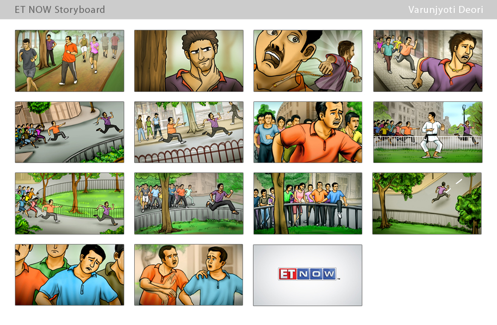 Varunjyoti Deori ET Now Storyboard - commercial storyboards