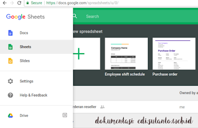 migrasi ke google sheet
