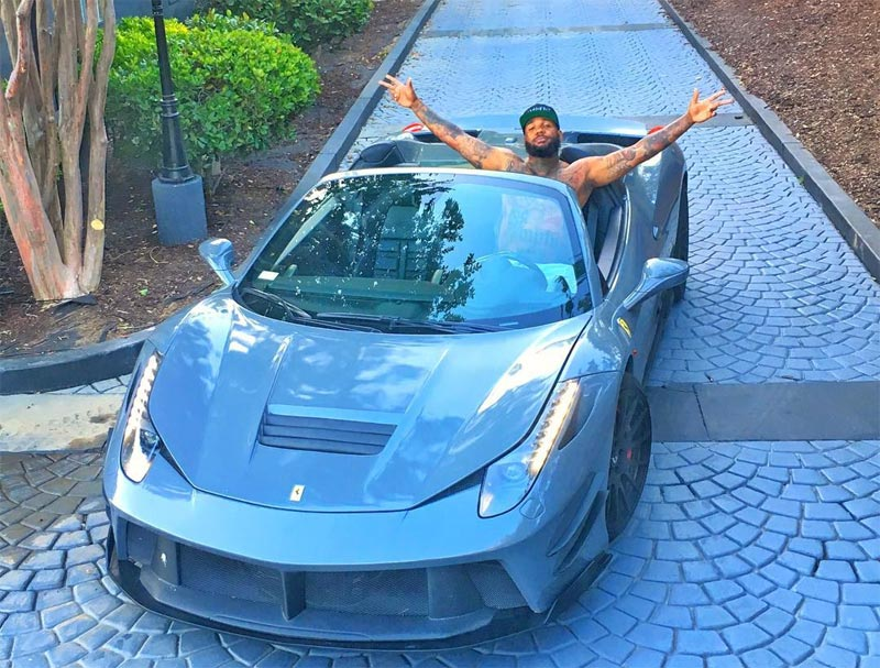 The Game flaunts his newly-acquired N74m Ferrari 458 Spider