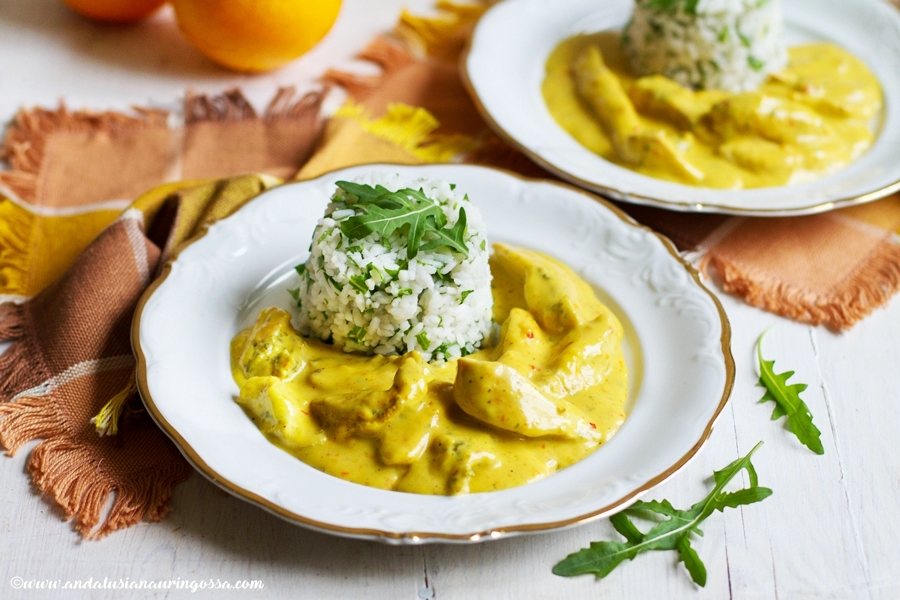 Andalusian auringossa_foodblog_creamy orange and curry chicken_quick and easy_glutenfree_kosher