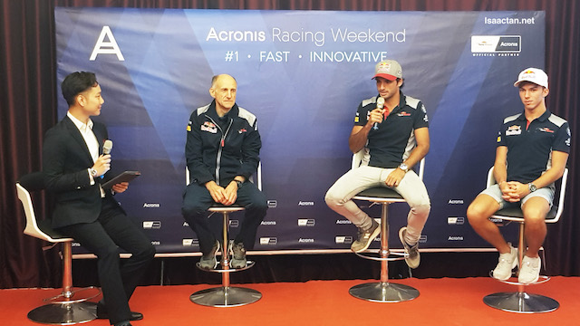 During the event, we had Scuderia Toro Rosso and his team there