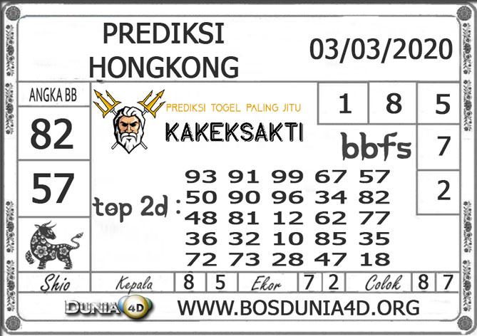 Prediksi Togel HONGKONG DUNIA4D 03 MARET 2020