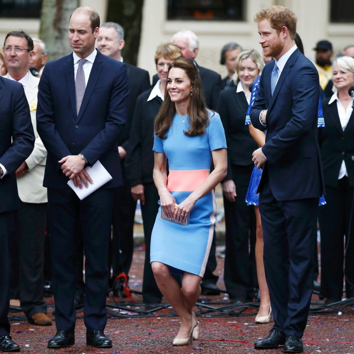 4df5016b69f2 Duchess Kate  The Duchess in Color-Block Roksanda for The Patron s Lunch