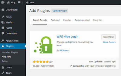 Lindungi halaman login wordpress dengan wps hide login