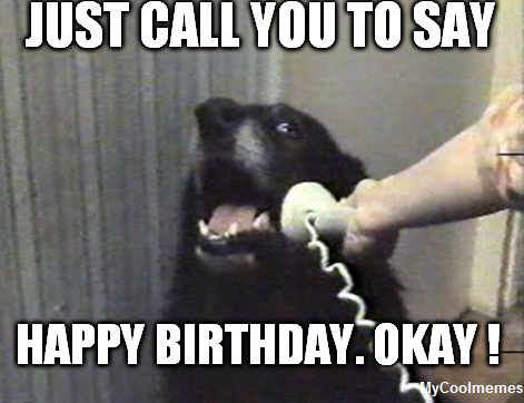 Funny Happy Birthday Dog Meme - MyCoolMemes