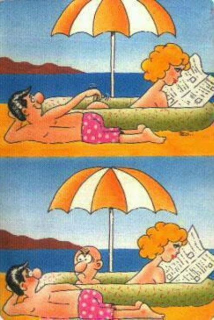 Funny Naked Tanning Cartoon Image Joke