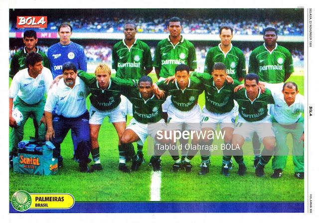 PALMEIRAS BRASIL TEAM SQUAD 1999