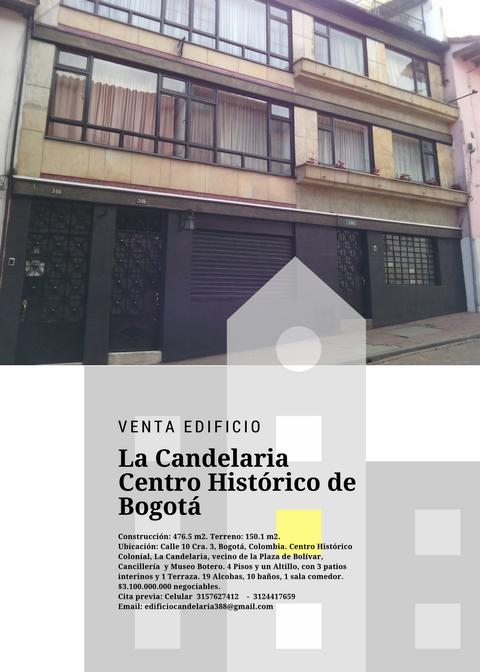 Venta Edificio En La Candelaria Centro Histórico De Bogotá