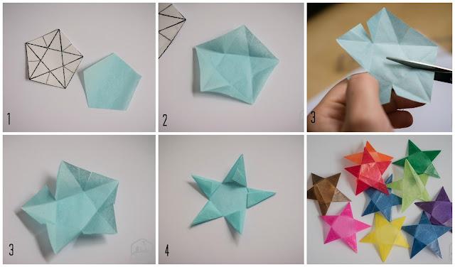 paso a paso estrellas de papel