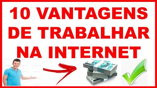 10 vantagens de trabalhar em casa pela internet