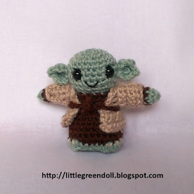 Little Green Doll: Star Wars: Yoda amigurumi
