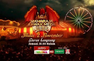 14 Peserta Maharaja Lawak Mega 2018