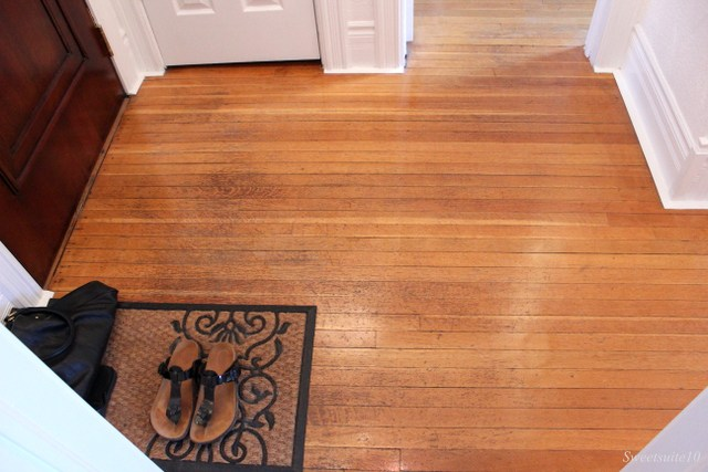 My Foyer with its wood floors and numerous doorways