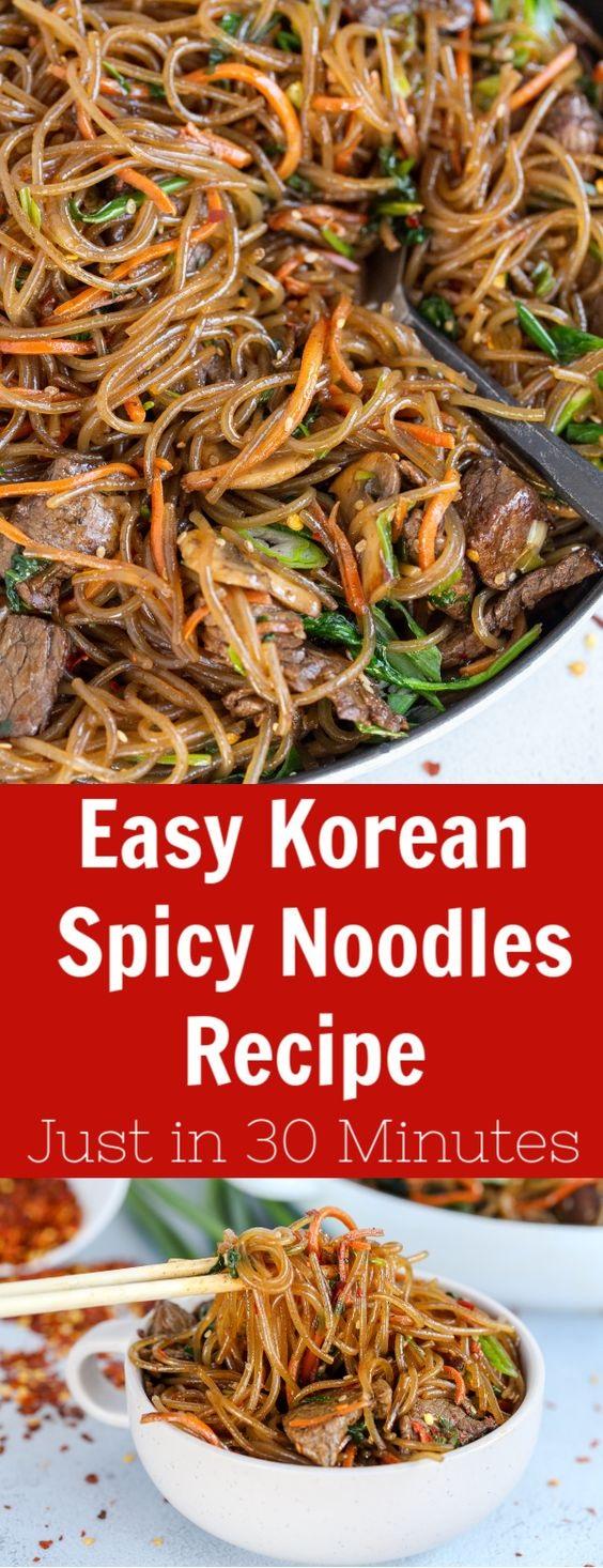 Easy Korean Spicy Noodles