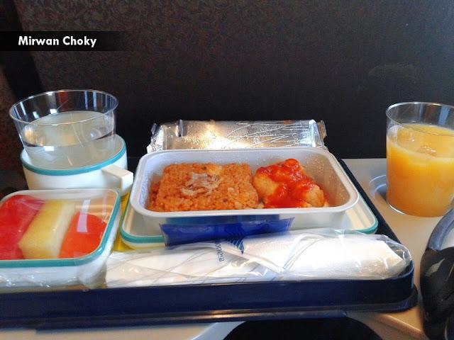 makanan pesawat garuda