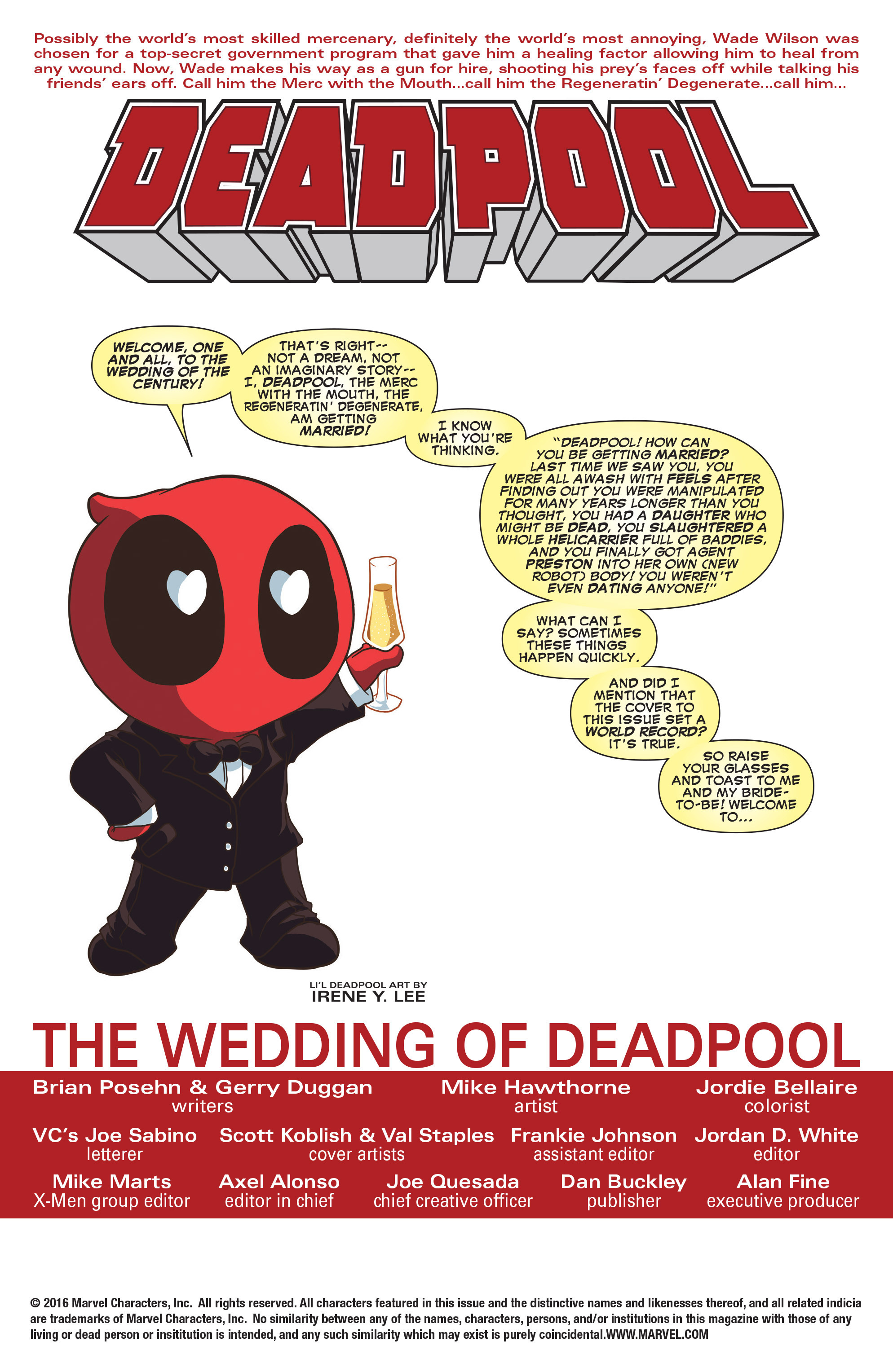 Read online True Believers: The Wedding of Deadpool comic -  Issue # Full - 3