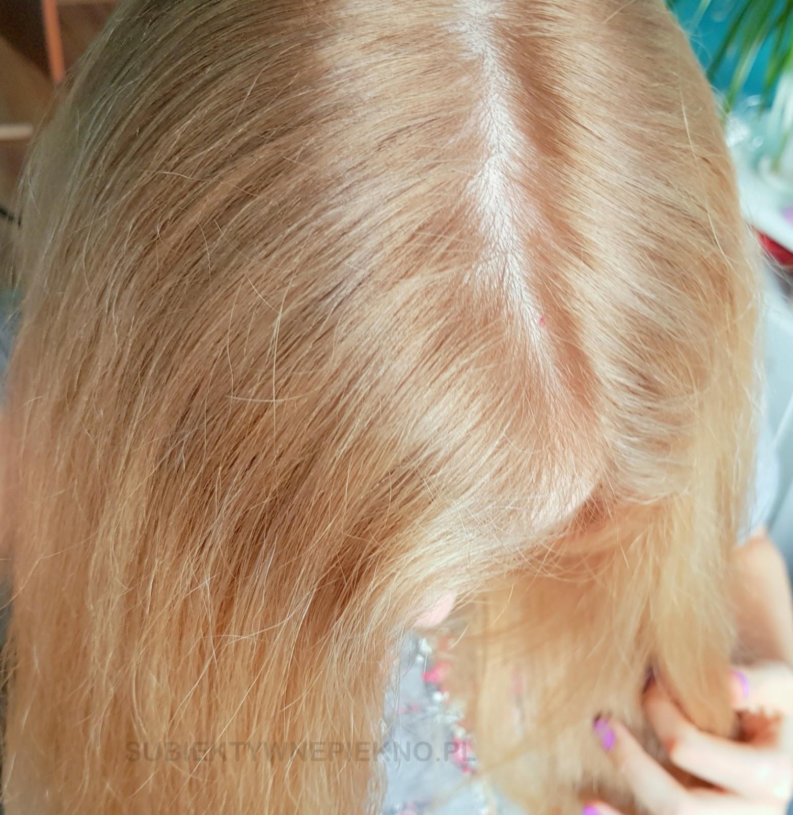 Ultraplex Color - nowa farba do włosów Joanna w odcieniu 10.01 platynowy blond efekty na włosach ciemny blond