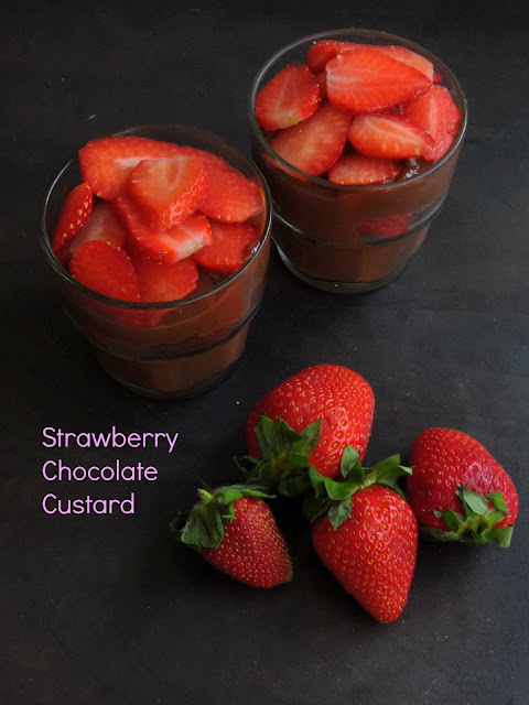 Strawberry Chocolate custard