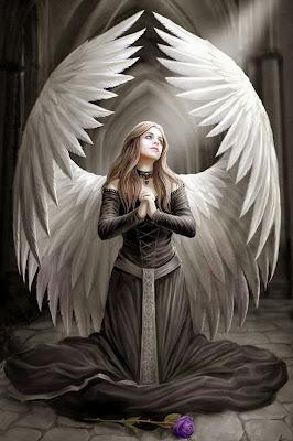 Prière de protection pour les soignants, guérisseurs, thérapeutes Ange+gothique+prie